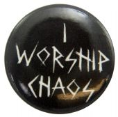 Children of Bodom - 'I Worship Chaos (Name)' Button Badge